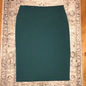 "LulaRoe ""Cassie"" skirt - Hunter/Teal - size Medium"